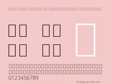 Noto Sans Arabic UI SemiCondensed ExtraLight Version 2.000 Font Sample