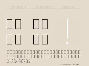 Noto Sans Arabic UI SemiCondensed Thin Version 2.000图片样张