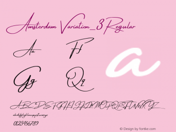 Amsterdam Variation_3 Version 1.00;October 10, 2017;FontCreator 11.0.0.2388 64-bit图片样张