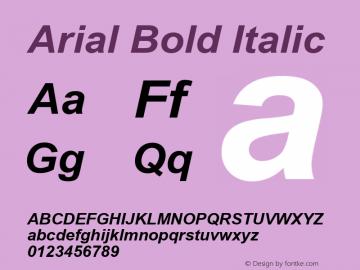 Arial Bold Italic Version 5.21图片样张