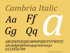 Cambria Italic Version 5.97图片样张