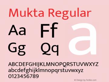 Mukta Regular Version 2.538;PS 1.001;hotconv 16.6.51;makeotf.lib2.5.65220; ttfautohint (v1.6)图片样张
