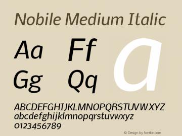 Nobile Medium Italic Version 1.000;PS 001.000;hotconv 1.0.38图片样张