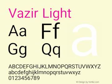 Vazir Light Version 16.1.0图片样张