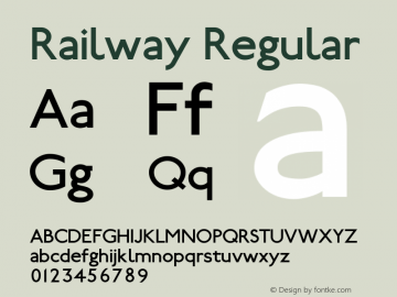 Railway 1.100; ttfautohint (v0.97) -l 8 -r 50 -G 200 -x 14 -f dflt -w GD图片样张