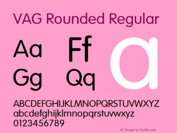 VAG Rounded Regular 001.001图片样张