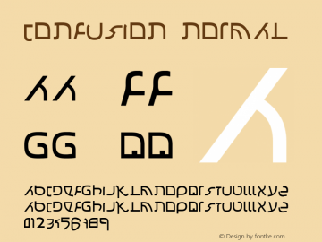 Confusion Normal 1.0 Sun Oct 15 13:52:09 2000 Font Sample