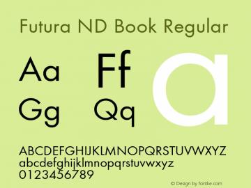 Futura ND Book Regular Version 1.11图片样张
