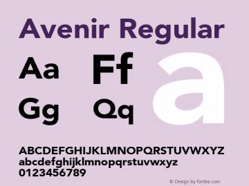 Avenir Regular 001.000图片样张