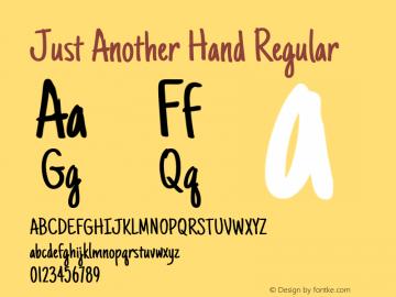 Just Another Hand Regular Version 1.000图片样张