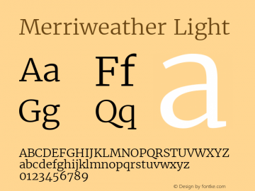 Merriweather Light Regular Version 1.584; ttfautohint (v1.5) -l 6 -r 36 -G 0 -x 10 -H 350 -D latn -f cyrl -w