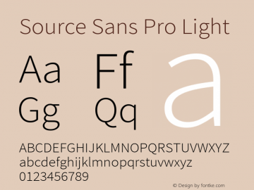 Source Sans Pro Light Version 1.050;PS Version 1.000;hotconv 1.0.70;makeotf.lib2.5.5900图片样张