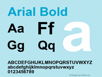 Arial Bold Version 6.99图片样张