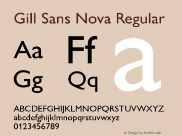 Gill Sans Nova Version 1.01图片样张