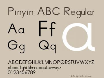 Pinyin ABC Version 1.00 June 10, 2014, initial release图片样张