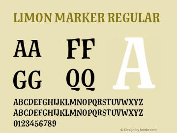 Limon Marker Regular Version 1.00, SI, April 5, 2017, initial release图片样张