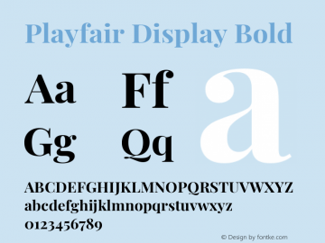 Playfair Display Bold Version 1.200; ttfautohint (v1.6)图片样张