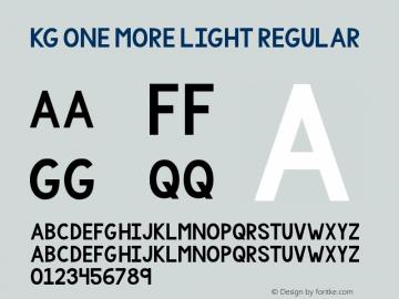 KG One More Light Regular Version 001.000图片样张