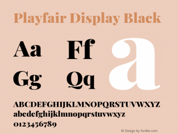 Playfair Display Black Version 1.201; ttfautohint (v1.6)图片样张
