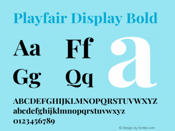 Playfair Display Bold Version 1.201;PS 001.201;hotconv 1.0.88;makeotf.lib2.5.64775图片样张