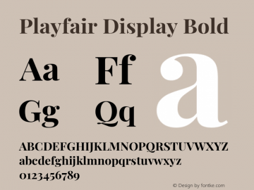 Playfair Display Bold Version 1.201; ttfautohint (v1.6)图片样张
