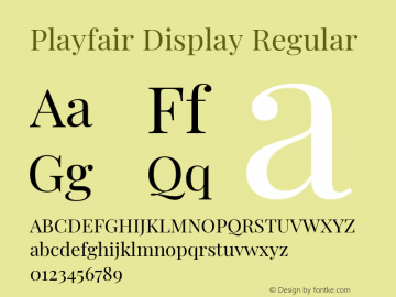 Playfair Display Regular Version 1.201; ttfautohint (v1.6)图片样张