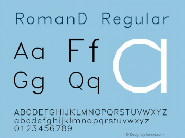 RomanD Regular AutoDesk, Inc., 2.0.0 3/10/97 Font Sample