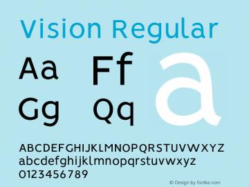 Vision-Regular 1.0图片样张
