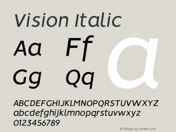 Vision-Italic 1.0图片样张