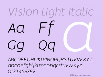 Vision-LightItalic 1.0图片样张