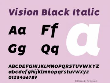 Vision-BlackItalic 1.0图片样张