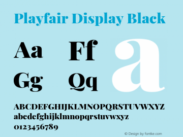 Playfair Display Black Version 1.202; ttfautohint (v1.6)图片样张