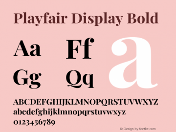 Playfair Display Bold Version 1.202;PS 001.202;hotconv 1.0.88;makeotf.lib2.5.64775图片样张