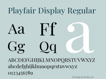 Playfair Display Regular Version 1.202; ttfautohint (v1.6)图片样张