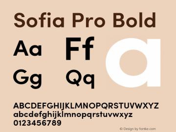 Sofia Pro SemiBold Version 2.000图片样张