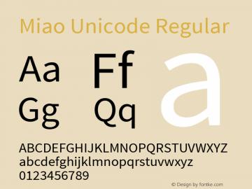 Miao Unicode Version 0.60 September 28, 2016图片样张