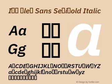 IBM Plex Sans Font,IBM Plex Sans SemiBold Italic Font,IBM Plex Sans