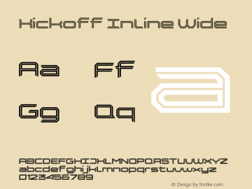 Kickoff Inline Wide Version 1.000;PS 001.000;hotconv 1.0.88;makeotf.lib2.5.64775图片样张
