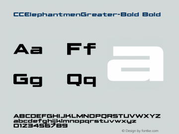 CCElephantmenGreater Bold Version 1.001 2010;com.myfonts.comicraft.elephantmen-greater-and-taller.greater-bold.wfkit2.3wg4 Font Sample