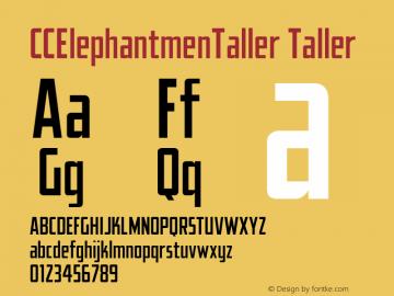 CCElephantmenTaller Version 1.001 2010;com.myfonts.comicraft.elephantmen-greater-and-taller.taller.wfkit2.3wg1 Font Sample