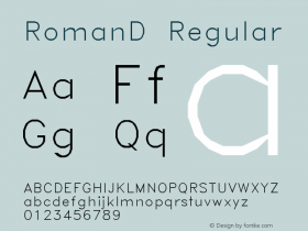 RomanD Regular AutoDesk, Inc., 2.0.0 3/10/97图片样张