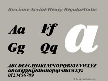 Riccione-Serial-Heavy RegularItalic 1.0 Thu Oct 17 21:37:02 1996图片样张