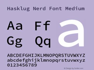 Hasklug Medium Nerd Font Complete Version 2.030;PS 1.0;hotconv 16.6.51;makeotf.lib2.5.65220 Font Sample