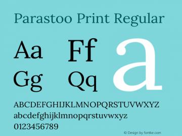 Parastoo Print Version 1.0.0-alpha4 Font Sample