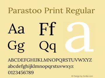 Parastoo Print Version 1.0.0-alpha5 Font Sample