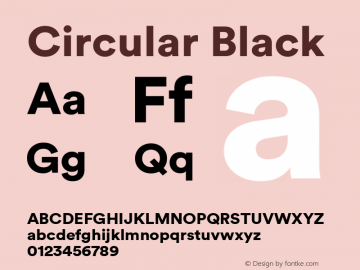Circular Black Version 1.001图片样张