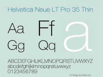 HelveticaNeueLTPro-Th Version 1.000;PS 001.000;Core 1.0.38图片样张