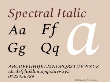 Spectral Italic Version 1.002图片样张