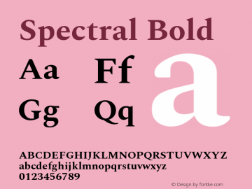 Spectral Bold Version 1.002图片样张