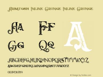 Arbatosh Inline Grunge Version 1.000图片样张